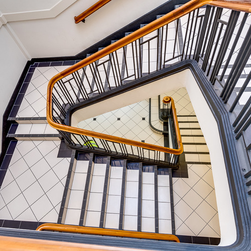 big refurbishment is bowman interior stairwell recommissioned
